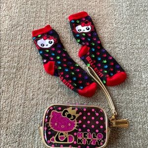 Hello Kitty Clutch and Socks